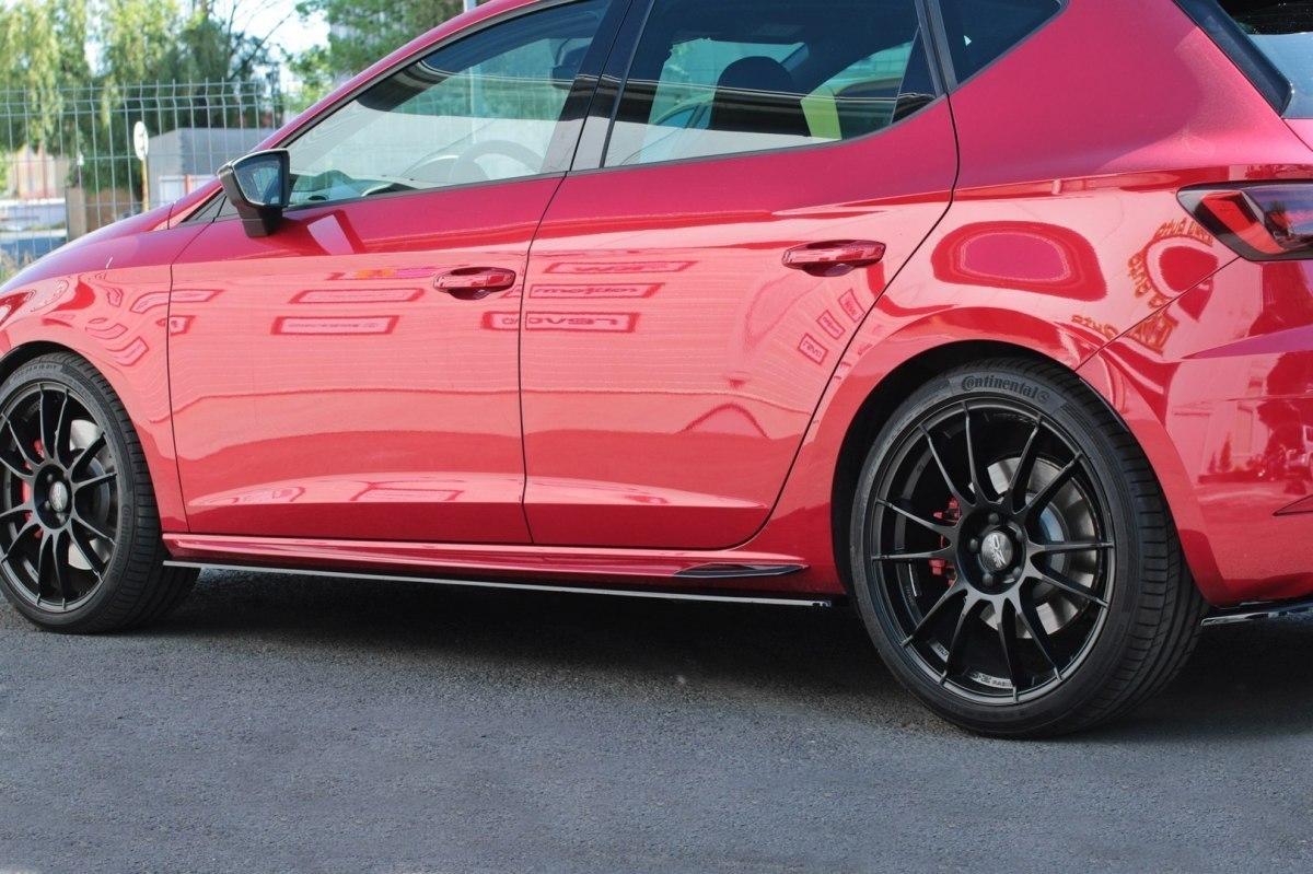 Dokładki Progów v.2 Seat Leon Mk3 Cupra Facelift - GRUBYGARAGE - Sklep Tuningowy